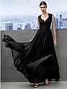 Corte en A Escote Corazon Hasta el Suelo Raso Evento Formal Gala de Etiqueta Vestido con Encaje En Cruz por TS Couture®