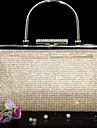 Women PU Minaudiere Clutch / Evening Bag - Gold / Black