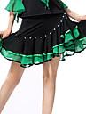 Latin Dance Dresses&Skirts Women\'s Performance Spandex / Polyester Ruffles 1 Piece Blue / Fuchsia / Green / Purple / Red