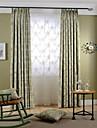 Två paneler Rustik / Modern / Nyklassisistisk Blommig/Botanisk Multifärgad Bedroom Polyester Blackout Gardiner draperier