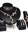 Lănțișor / Σκουλαρίκια / Brățară / Inel (Placat cu Aur / Placat cu Aur Rose / Piete Prețioase & Cristal / Zirconiu Cubic) Damă -Vintage