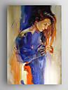 HANDMÅLAD Abstrakta porträttModerna En panel Kanvas Hang målad oljemålning For Hem-dekoration