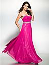 ts couture® noche formal del vestido de una linea gasa del amor hasta los tobillos con abalorios cruz / criss