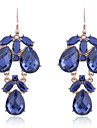 Vintage Crystal Water Drop Shape Chandelier Earrings
