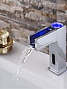 Contemporain Montage Cascade / Capteur with  Electrovanne Mains libres un trou for  Chrome , Robinet lavabo