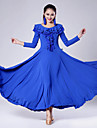 Imported Nylon Viscose with Ruffles Ballroom Dance Dresses for Women\'s Performance (More Colors)