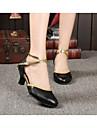 Chaussures de danse(Noir Rouge Blanc Or Autre) -Non Personnalisables-Talon Cubain-Cuir-Moderne