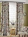 Två paneler Fönster Behandling Rustik Modern Nyklassisistisk Sovrum Polyester/Bomull Blandning Material Mörkläggning Gardiner draperier