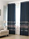 Deux Panneaux Le traitement de fenetre Neoclassique Mediterraneen Europeen Rustique Moderne , Feuille Salle de sejour Polyester Materiel