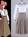 Inspirerad av Sailor Moon Sailor Jupiter Animé Cosplay Kostymer/Dräkter cosplay Suits Lappverk Vit Topp / Kjol