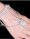Dame Bratari Wrap Ring Bracelets Aliaj Ștras Argilă imitație de diamant Star Shape Alb Bijuterii 1 buc