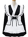 svartvit polyester piga kostym type6