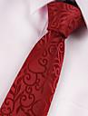 Cravată / Buzunar Pâtrat / Clip Cravată / Butoni (Violet / Burgundiu , Poliester) Model