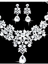Seturi de bijuterii Cercei Coliere cu Pieptar La modă Strat dublu Bijuterii Statement Diamante Artificiale Picătură Alb PentruPetrecere
