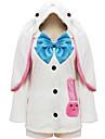 Inspirerad av Vocaloid Hatsune Miku Animé Cosplay Kostymer/Dräkter cosplay Suits Lappverk Vit Topp / Kjol / Band