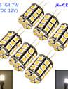 7W G4 Ampoules Mais LED T 27 SMD 5050 600 lm Blanc Chaud / Blanc Froid Decorative DC 12 / AC 12 V 6 pieces