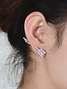 Women\'s Fashion Full of Diamond Exaggerated Separation Arrow Pattern Single Stud Earrings