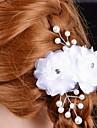 Femei Satin Imitație de Perle Diadema-Nuntă Ocazie specială Flori 1 Bucată