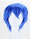 varm stil cosplay blå sythetic våg peruker hår