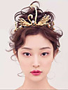 Swan style Golden Wedding / Special Occasion / Outdoor Tiaras/Headpiece with Pearls