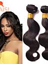 """3st / lot 8 """"-26"""" obearbetat brasilianska jungfru hår naturligt svart förkroppsligar vinkar människohår väva"""