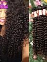 extension de bresilienne vierge de cheveux boucles 10-30inch naturel noir humaine de cheveux