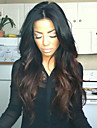 Natural Wavy Unprocessed Indian Human Hair Wigs Middle Part Lace Front Wig