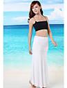 kvinnors fasta svart / vit / blå baddräkter täcka upp, casual axelbandslös