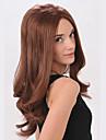 fashional kvinnor supermodellen stil sexig lolita dagliga lockigt vågigt nattklubb håret fullt peruker lång brun färg försäljning.