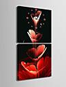Carre Moderne/Contemporain Horloge murale , Autres Toile40 x 40cm(16inchx16inch)x2pcs/ 50 x 50cm(20inchx20inch)x2pcs/ 60 x
