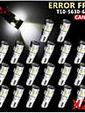 20x CANbus wig t10 ​​wit 192 168 194 W5W 6 5630 smd led lamp foutloos 12v