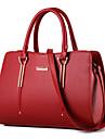 Femme Polyurethane Formel / Decontracte / Exterieur / Bureau & Travail / Shopping Sac a Bandouliere / CabasBleu / Rouge / Noir /