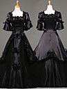 Steampunk®Top Sale Black Long Sleeves Satin Classic Victorian Dress Medium Cospaly Long Party Dresses