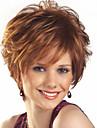 nyanländ peruker kvinnor lady kort brunt färg syntetiska peruker