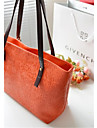 Women PU Baguette Tote - Pink / Purple / Blue / Orange