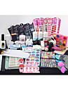 140Pcs Professional Acrylic Liquid Powder Glitter Clipper Primer File Nail Art Tips Tool Brush Tool Set Kit