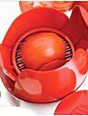 nya nyhet köksredskap i rostfritt stål manuell tomat slicer frukt grönsaker skärhugg