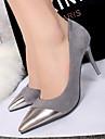 Pantofi pentru femei - Piele de Căprioară - Toc Stiletto - Tocuri / Vârf Ascuțit / Vârf Inchis - Pantofi cu Toc - Rochie -Negru /