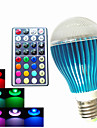 9W GU10 / B22 / E26/E27 LED-globlampor A60(A19) 3PCS Högeffekts-LED 450LM lm RGB Dimbar / Fjärrstyrd / Dekorativ AC 100-240 V 1 st