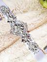 Satin Nunta / Party/Seara / Zilnice Cercevea-Margele / Perle / Ștrasuri Dame 98 ½in(250cm) Margele / Perle / Ștrasuri