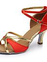 Chaussures de danse (Noir / Bleu / Marron / Rouge) - Personnalisables - Talon Personnalise - Satin - Latine / Salsa / Samba
