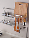 chuyuwuxian köksredskap arrangör hängare verktyg kryddhylla väggmonterad krom färdigt stål rack K4 60cm
