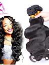 peruanska jungfru hår förkroppsligar vinkar 3Bundles naturlig färg # 1b obearbetat människohår väver snabb leverans peruansk