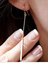 Cercei Picătură Elegant La modă stil minimalist Placat Auriu Line Shape Argintiu Auriu Bijuterii Pentru Petrecere Zilnic Casual 1set