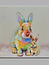 Peint a la main Animal Carre,Moderne Un Panneau Toile Peinture a l\'huile Hang-peint For Decoration d\'interieur