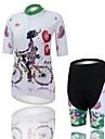 Cykeltröja med shorts Dam Kort ärm CykelAndningsfunktion / Ultraviolet Resistant / Fuktgenomtränglighet / Kompression / Svettavvisande /