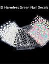 Tecknat / Blomma / Vackert - Finger - 3D Nagelstickers / Nagelsmycken - av Plast - 30Pcs - styck 5*3 - cm