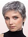femmes couleur gris dame fashion droites courtes perruques de cheveux synthetiques