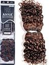"""anna brasiliansk lösa lockigt våg hårförlängningar # 2 mörkbrunt människohår väver 2 * 8 """"105g / förpackning"""