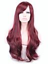 longue vague cheveux synthetiques cosplay perruque rouge